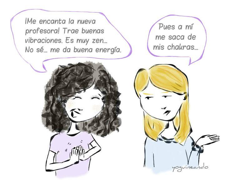 humor  y yoga en español, vocabulario yoga