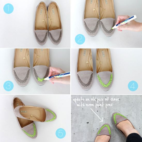 step by step instructions (neon shoe makeover) i think i posted this but this is actually the diy part....