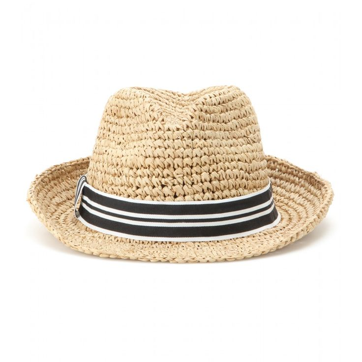 Hat Attack - Raffia fedora - This chunky crochet fedora from Hat Attack will pair effortlessly with all your summer looks. Take it to the beach or wear out for sunny days in the city. seen @ www.mytheresa.com
