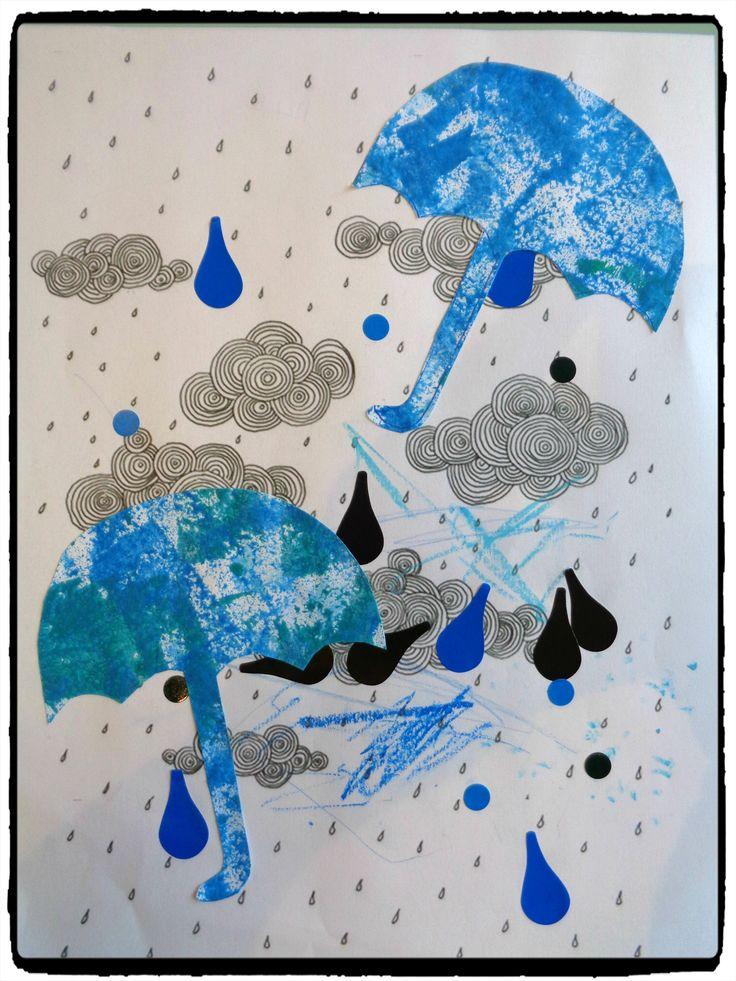 bricolage pluie, météo, automne, enfant