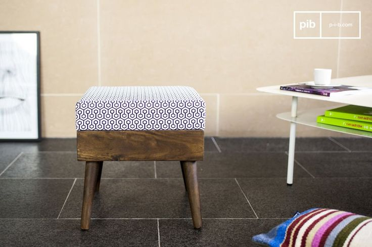 Why not choose this Londress ottoman, it is subtle and elegant, contributing to the refined atmosphere of a living room or a bedroom by providing a touch of vintage Scandinavian design.