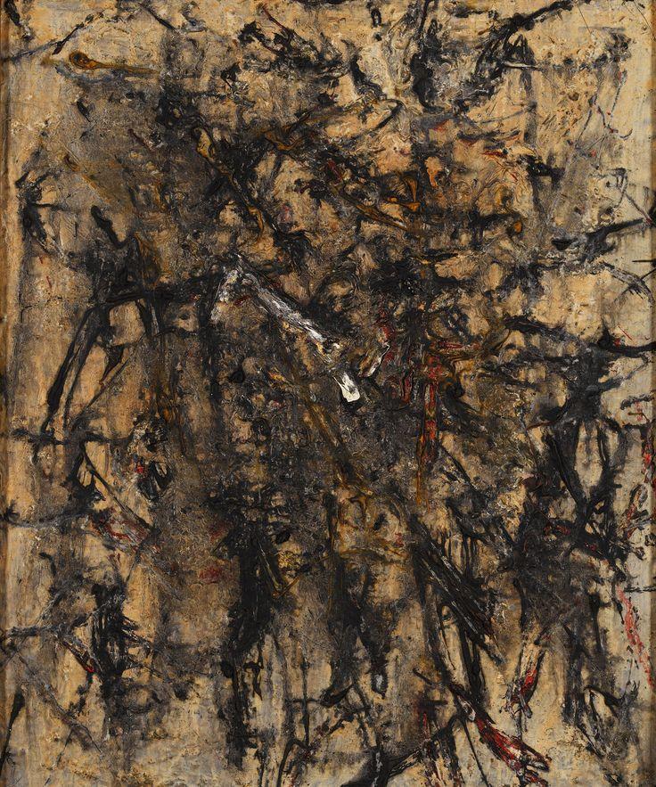 Francois Fiedler Untitled 1957 oil on canvas 55 x 46 cm - Kalman Maklary Fine Arts