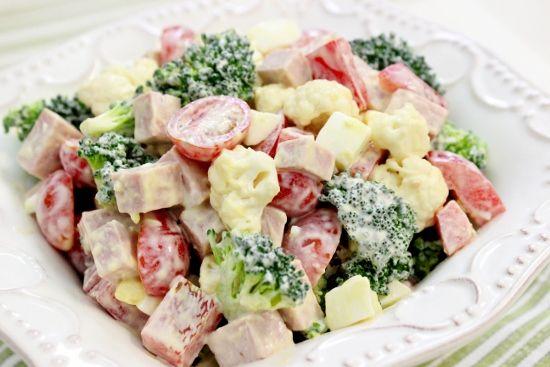 Cremiger Brokkoli Blumenkohlsalat   – Recipes