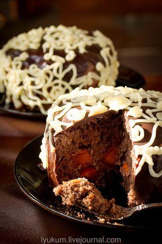Евгеньевский торт с хурмой и ромом