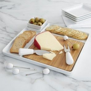 kitchen stuff plus bamboo white natural porcelain serve platter set of 9.jpg