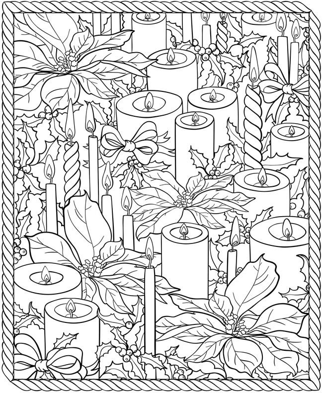 welcome to dover publications crazy christmas coloring book - Christmas Coloring Pages For Adults