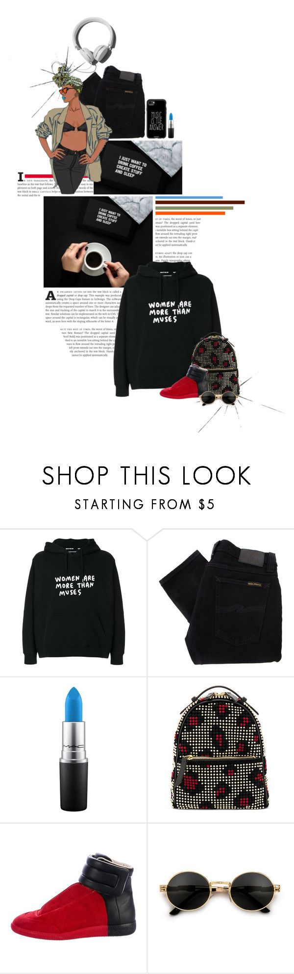 """""""Women are more than muses..."""" by po8grl ❤ liked on Polyvore featuring Garance Doré, House of Holland, Nudie Jeans Co., Les Petits Joueurs, Maison Margiela, Casetify, womensHistoryMonth, pressforprogress and GirlPride"""