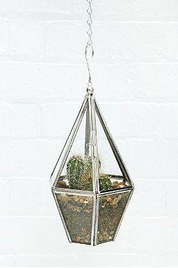 "Urban Grow ""Terrarium"" Hängeblumentopf in Silber"