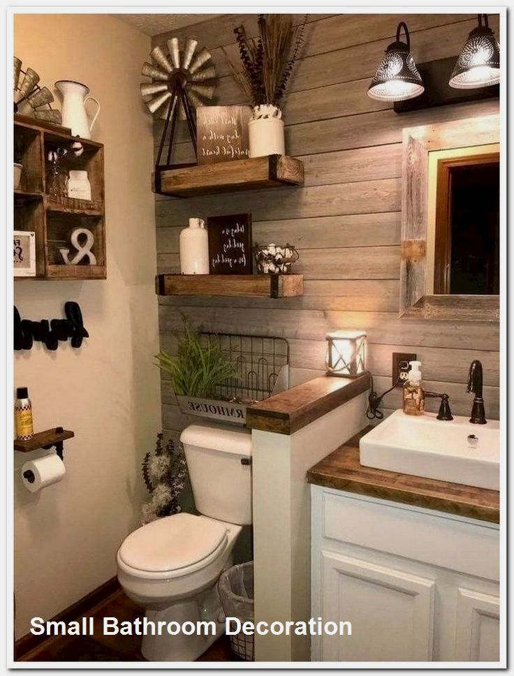 Small Bathroom Design Ideas In 2020 Outhouse Bathroom Decor Rustic Bathrooms Farmhouse Bathroom Decor