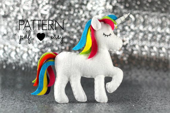 40% OFF!! - Its Maisie Moos 7th Birthday and to celebrate I am giving 40% OFF all my patterns for a limited time. The discount has been applied to the price shown.  -------------------------------------DESCRIPTION------------------------------------------  This darling rainbow unicorn is stitched entirely by hand and is the perfect sewing pattern for beginners.  How will you use your felt unicorn? As a toy, baby mobile, garland, ornament, cake topper... whatever you choose!  This listing is…