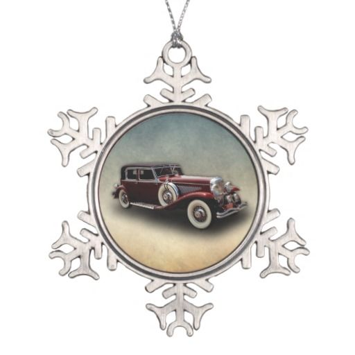 Duesenberg (Duesy) Model J Classic Car Ornament