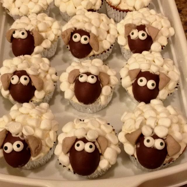Easter Sheep Cupcakes