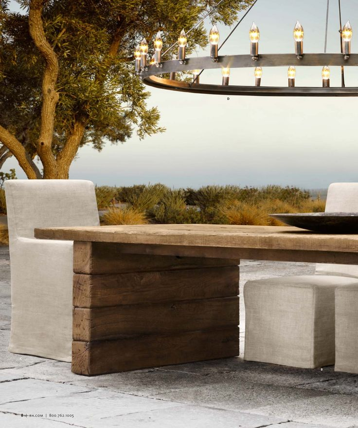 Aspen chandelier 2013 outdoor catalog restoration hardware outdoor seatingoutdoor decoroutdoor furnitureoutdoor