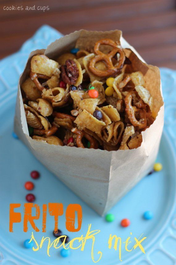 Serious... Frito snack mix... Covered in brown sugar. Mmmmmmm...