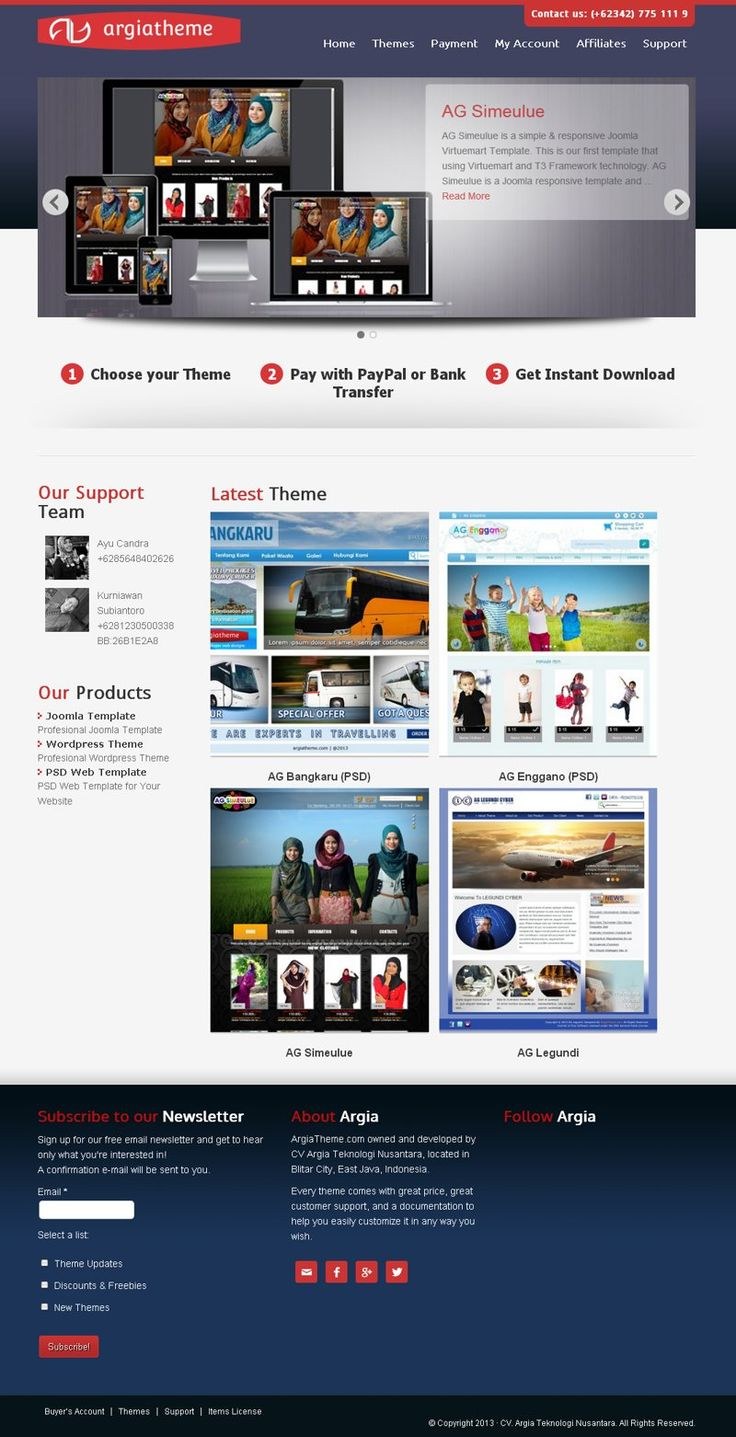 #Portofolio #Ecommerce Web toko online milik ArgiaCyber.com ini menjual produk-produk template premium untuk joomla dan wordpress. Dibangun menggunakan WordPress.