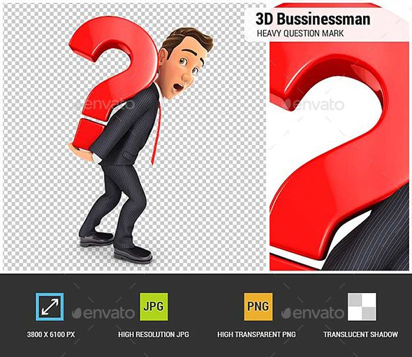 3d Businessman Carrying Heavy Question Mark This Or That Questions Business Man Question Mark