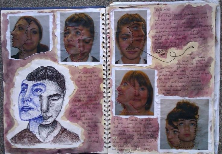 Manny Robertson critical study continued for 'Order and Disorder' Art GCSE