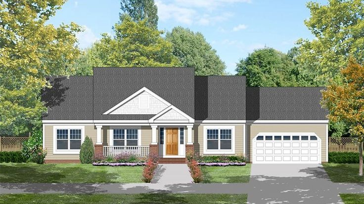 Home Plan Homepw15406 1516 Square Foot 3 Bedroom 2