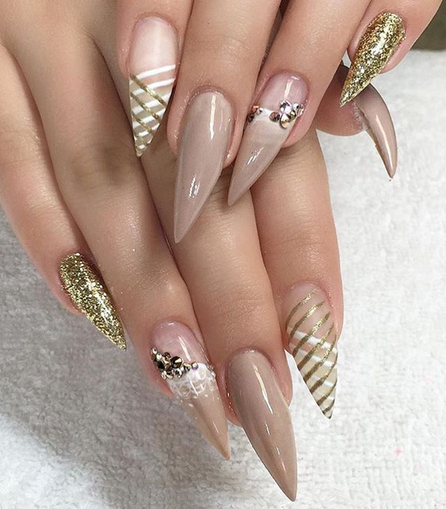 @princess_paige1 calls these classy + crazy and we love it! Thanks for tagging us! #nailsmagazine