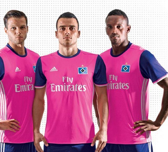 Hamburg's new 3rd kit Ladies and Gentlemen, sum up your reaction in an emoji...#Hamburg #Bundesliga #Germany #Kits