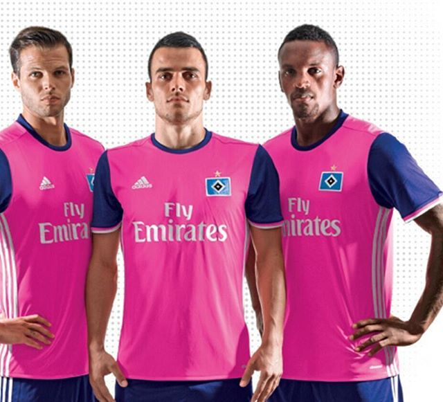 Hamburg's new 3rd kit Ladies and Gentlemen, sum up your reaction in an emoji...#Hamburg #Bundesliga #Germany #Kits