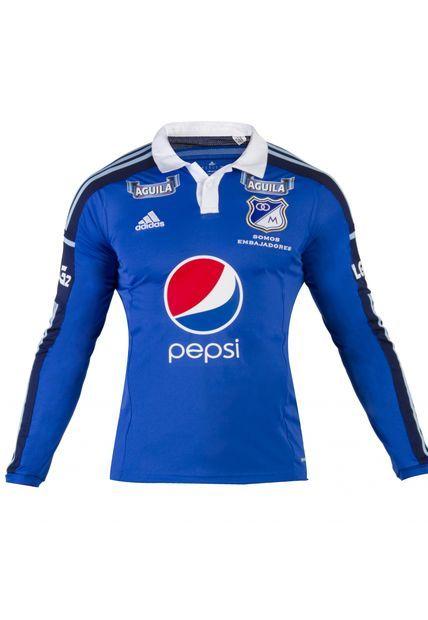 Me encanta! Miralo! Camiseta Millonarios adidas Azul  de Adidas en Dafiti