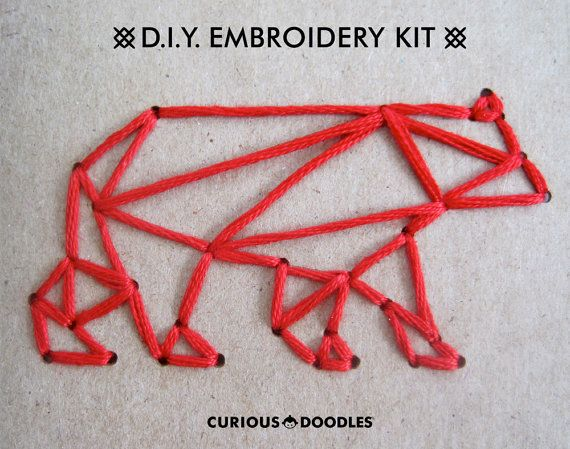 DIY Embroidery Kit In The Woods Set of Two by CuriousDoodles