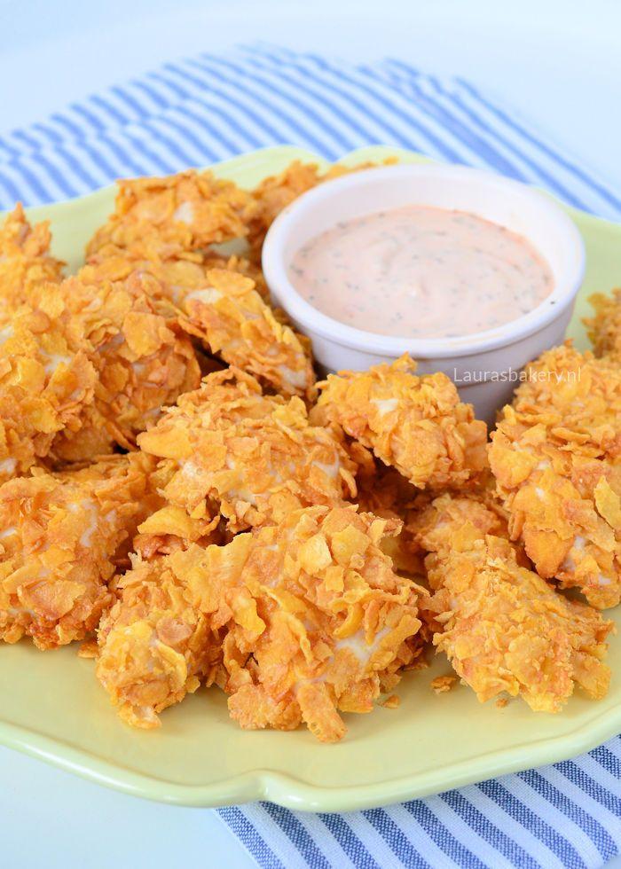 Kipnuggets, als kind was ik er al gek op en nog steeds vind ik ze erg lekker. Die wilde ik zelf ook wel eens maken. Zonder friteuse dan, want die heb ik niet. Deze zelfgemaakte kipnuggets komen uit de