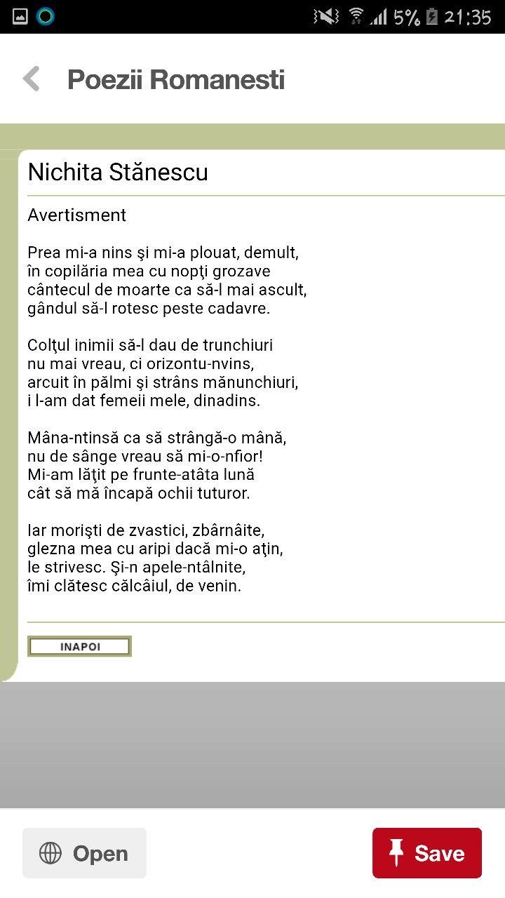 Nichita Stănescu - poezie