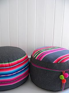 Inspiration. Aguayo floor cushions