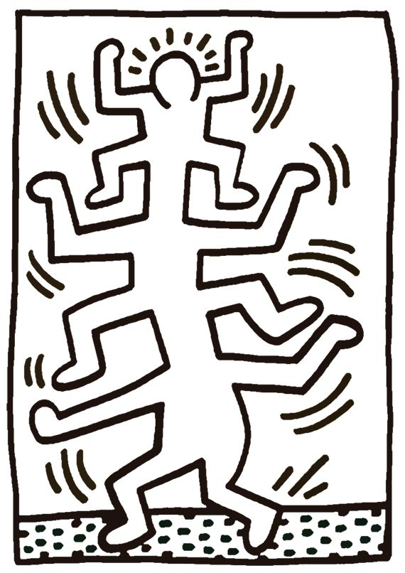 Keith Haring For Kids Artprints To Color Pop Art Paintings Keith Haring Keith Haring Art Haring Art