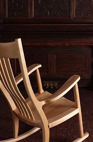 The Weeks Rocker In Maple Rocking Chairs In 2019 Pinterest