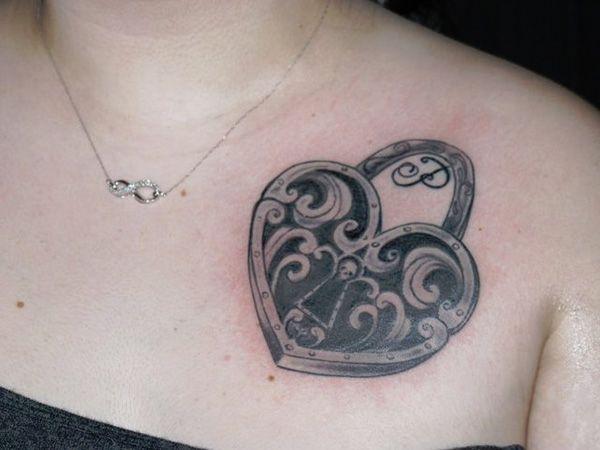 miami heart locket tattoo 27 Affectionate Heart Locket Tattoo Ideas