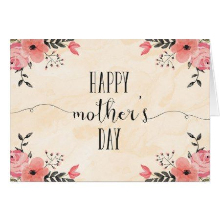 Flowers Mother's Day Card Watercolor - click to get yours right now!