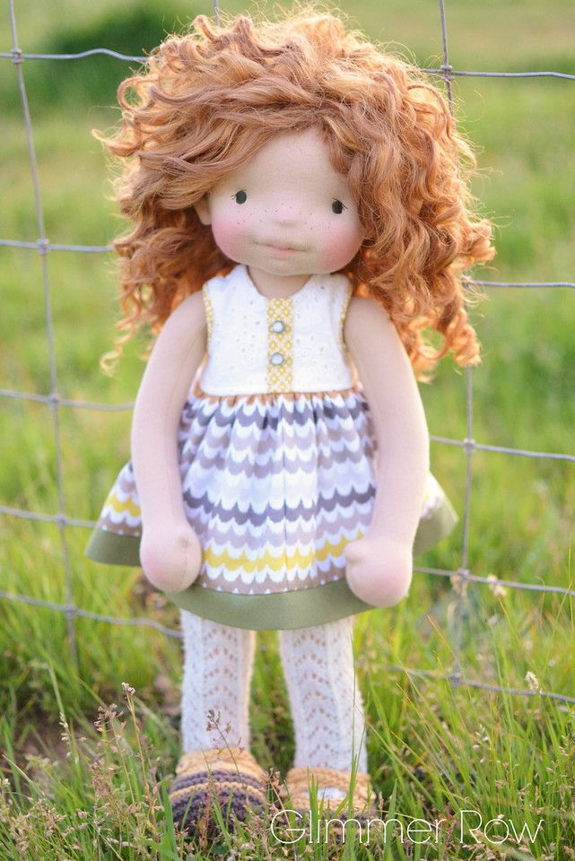 """""""Hadley"""" a 20"""" natural, waldorf inspired, cloth art doll by Glimmer Row"""