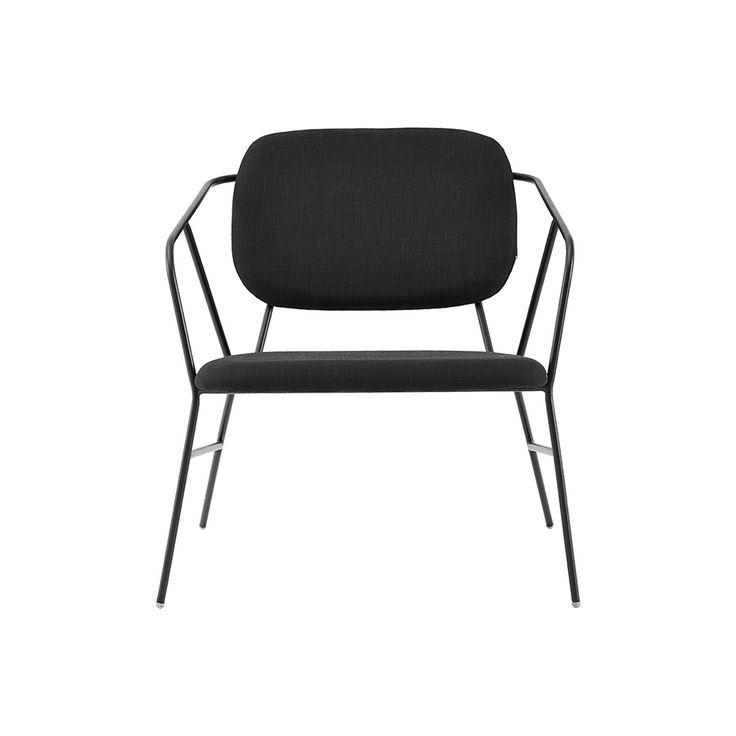 Klever Lounge Chair 70x70cm, Black, 180
