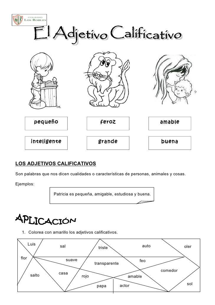 Actividades Con Adjetivos Para Segundo Grado Buscar Con Google Adjetivos Actividades Aula De Español Adjetivos