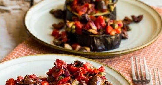 Roasted Eggplant Slices with Mediterranean Salsa