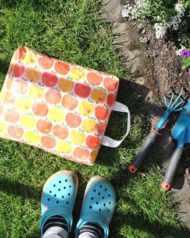 DIY Kniekissen für die Gartenarbeit mit laminiertem Stoff