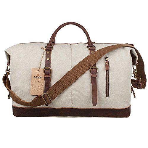 S-ZONE Oversized Canvas Leather Trim Duffel shoulder handbag Weekend Bag (Upgraded Version) S-ZONE http://www.amazon.com/dp/B00LJKK078/ref=cm_sw_r_pi_dp_2Mk1wb0VC96YV