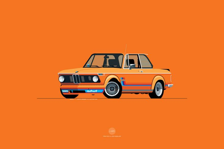 1974 BMW 2002 Turbo Print in Inka