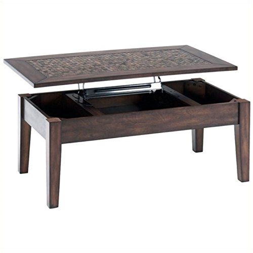 Bowery Hill Lift Top Coffee Table With Tile Inlay In Baroque Brown Learn More By Visiting The Image Link This Is An Affiliate And I Receive A