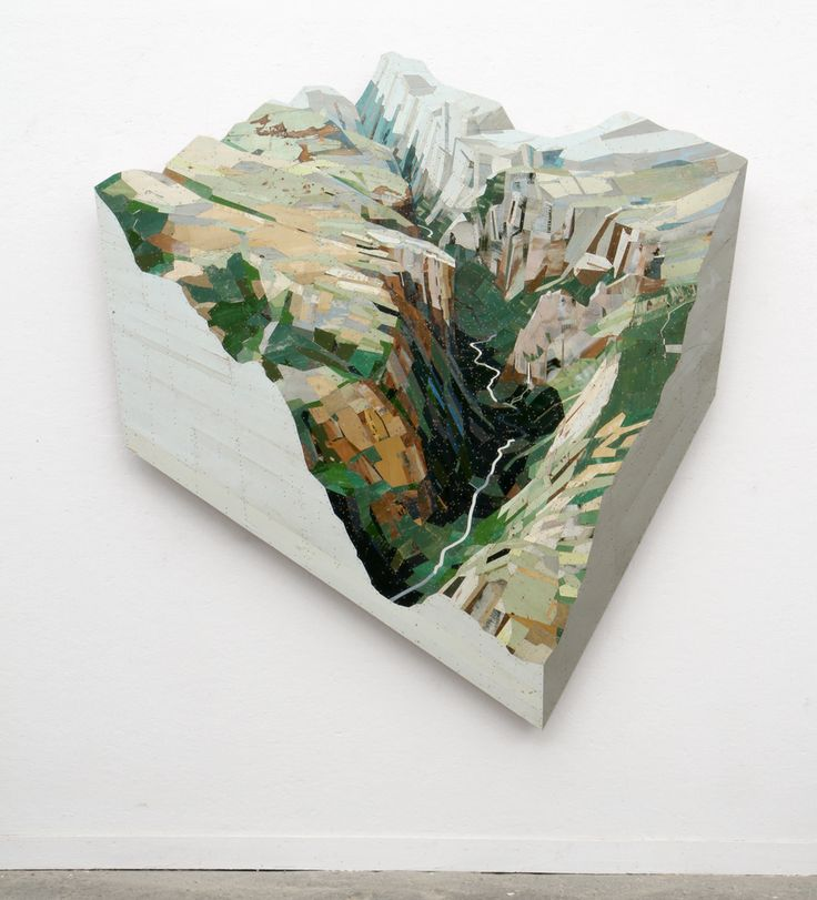 Found Wood Assembled Into Bas Relief Sculptures by Ron van der Ende