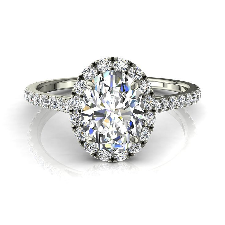 Bague de fiançailles pour femme solitaire bague diamant oval 0,80 carats or blanc Camogli-oval  #diamants #CamogliEmeraude #BagueDiamantRond #capucine #diamantsetcarats #bouclesd #PendentifDiamantElena #BagueDiamant #OrBlanc #Over500