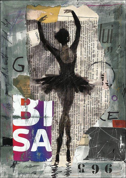 Imprimir arte lienzo regalo cartel mixta bosquejo chica por rcolo