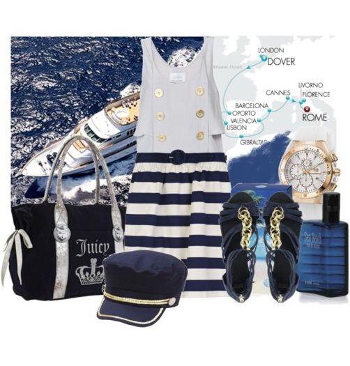 Морской стиль девушки одежда