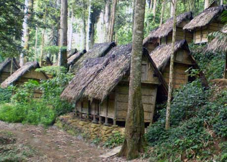 MAYLAY Traditional Baduy homes, western part of the Banten Province, Indonesia.