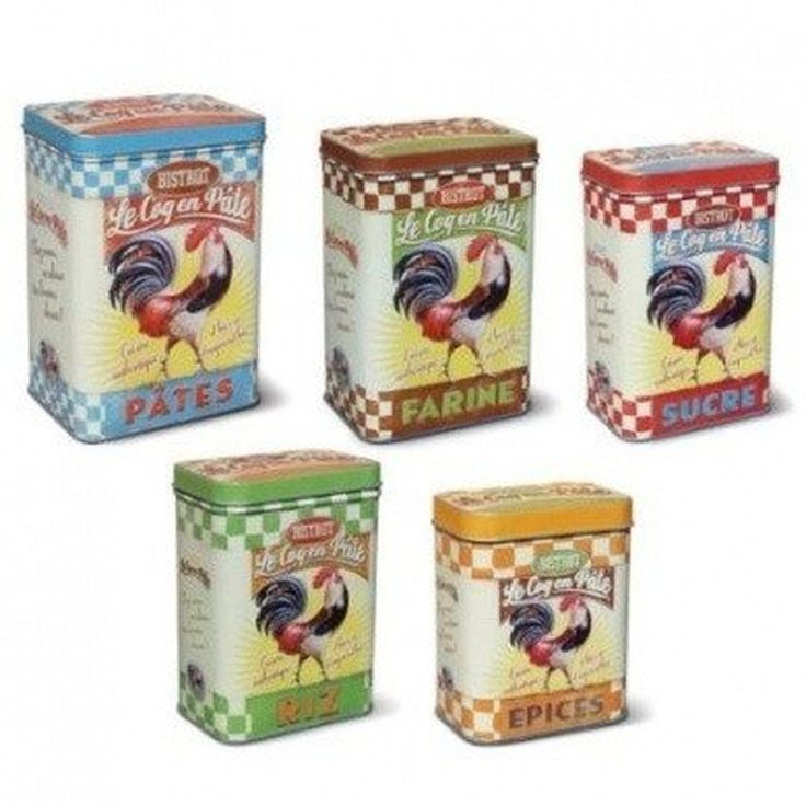 Le Coq en Pate Bistrot Rooster Tins (5 sizes/styles)