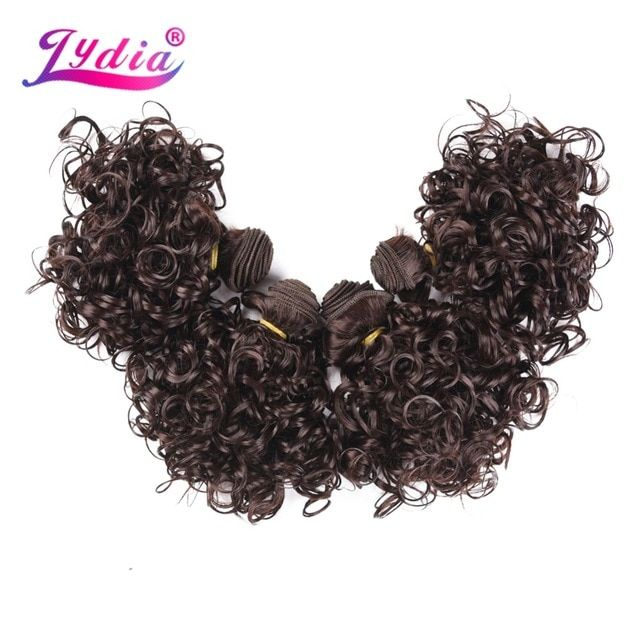 Lydia 4pcs/Lot Synthetic Short Curly Hair Extensio…