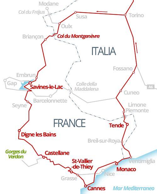 820 km - Tra i monti della Provenza e le mete classiche della Costa Azzurra.